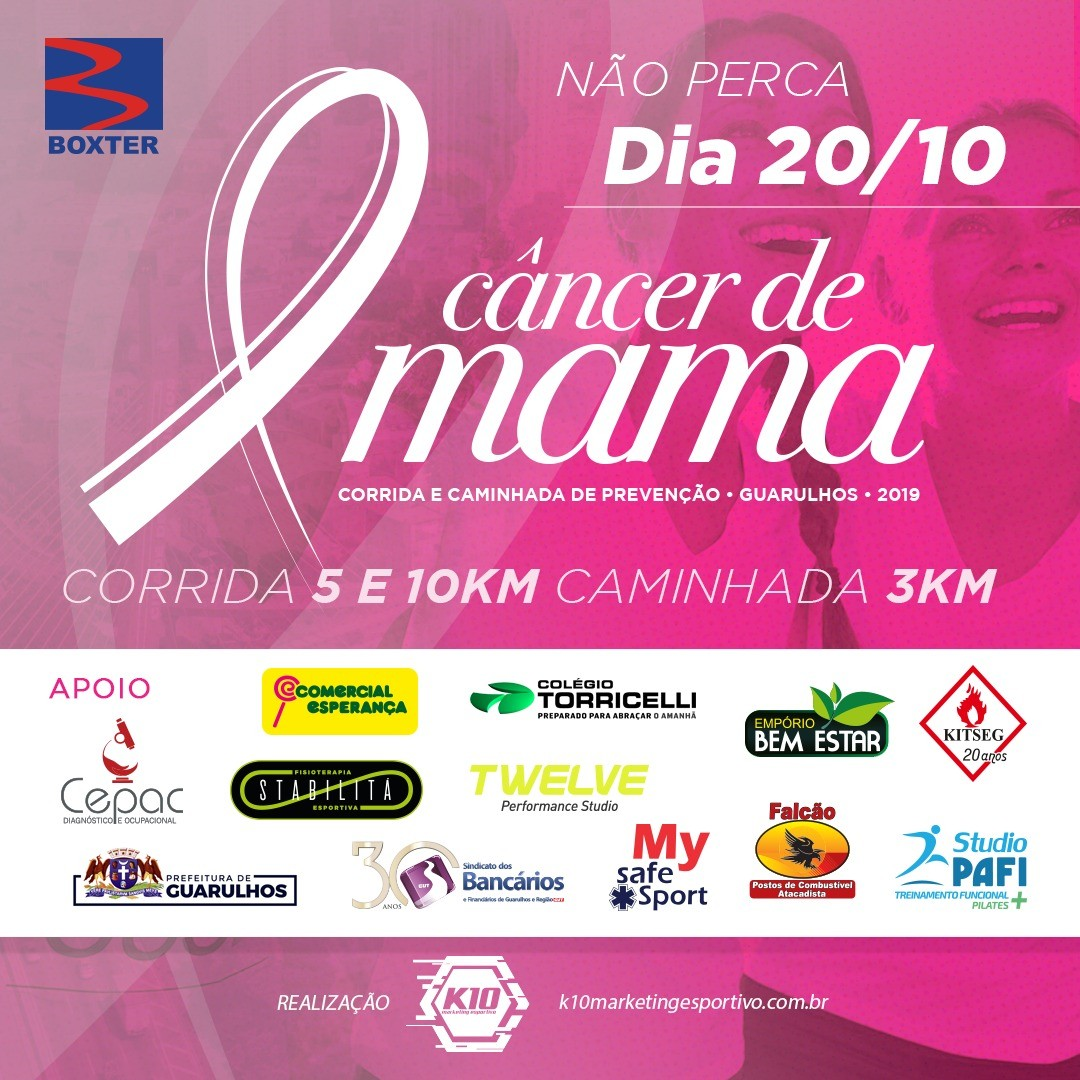 4ª Corrida e Caminhada de Prevenção ao Câncer de Mama Guarulhos